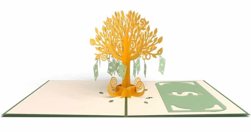 3d money tree card