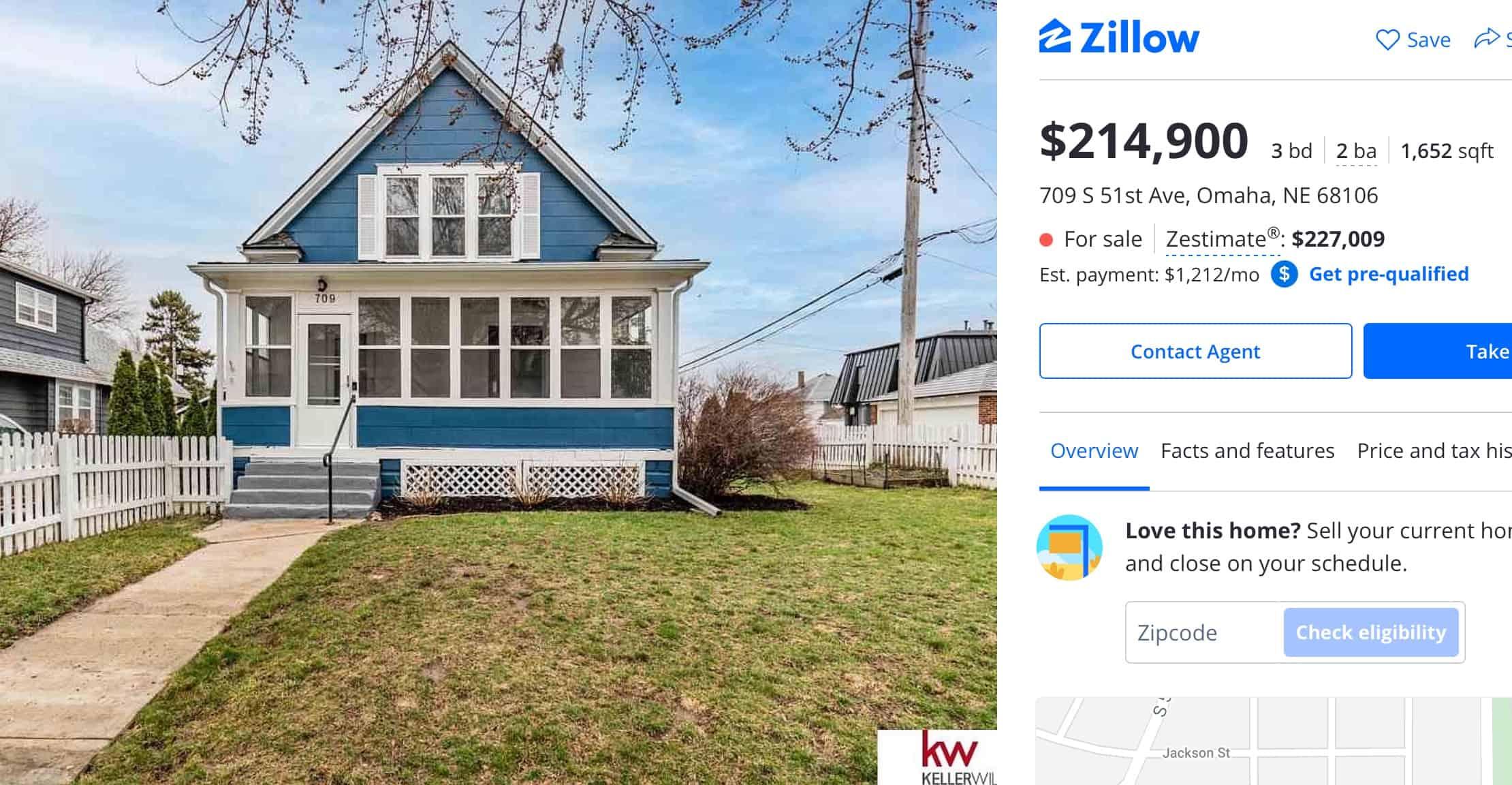 Una casa barata en Omaha