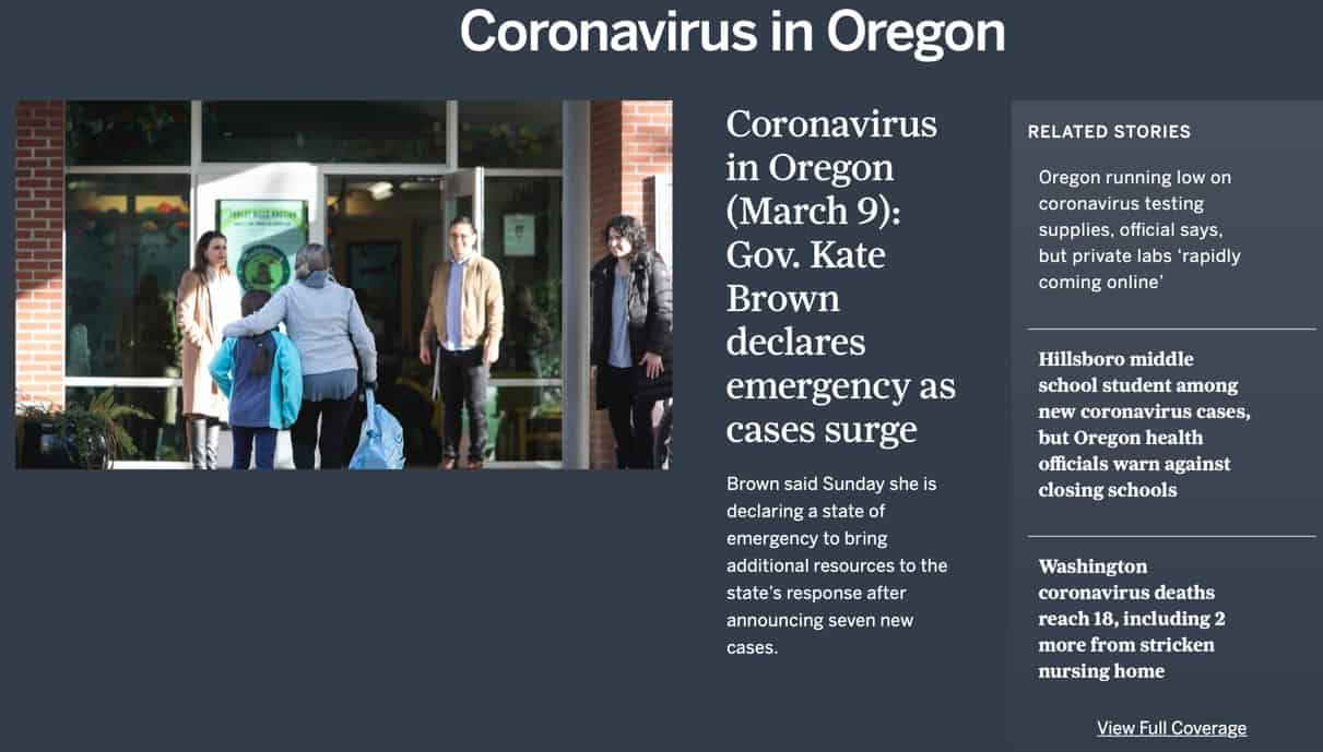 Coronavirus in Oregon