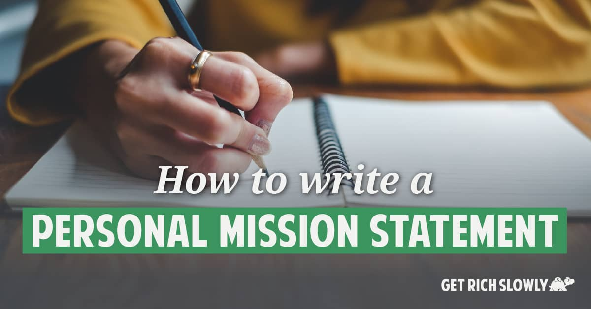 How to write a personal mission statement