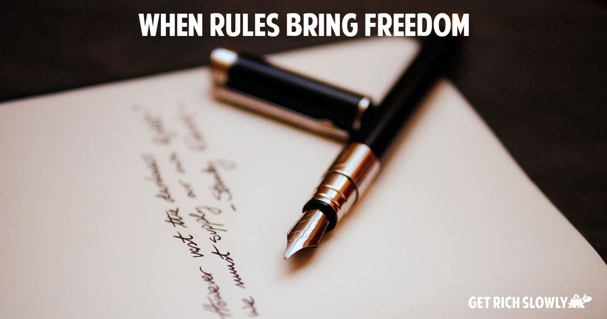 When rules bring freedom
