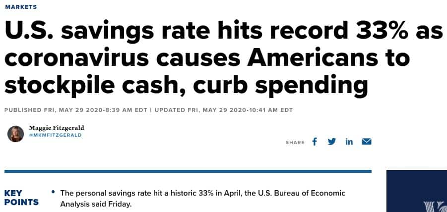 Savings rate headline