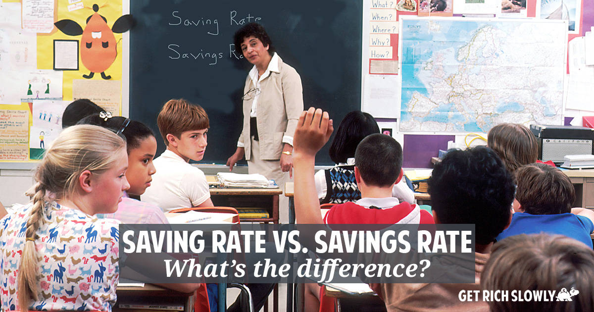 """Saving rate"" vs. ""savings rate"" — What's the difference?"