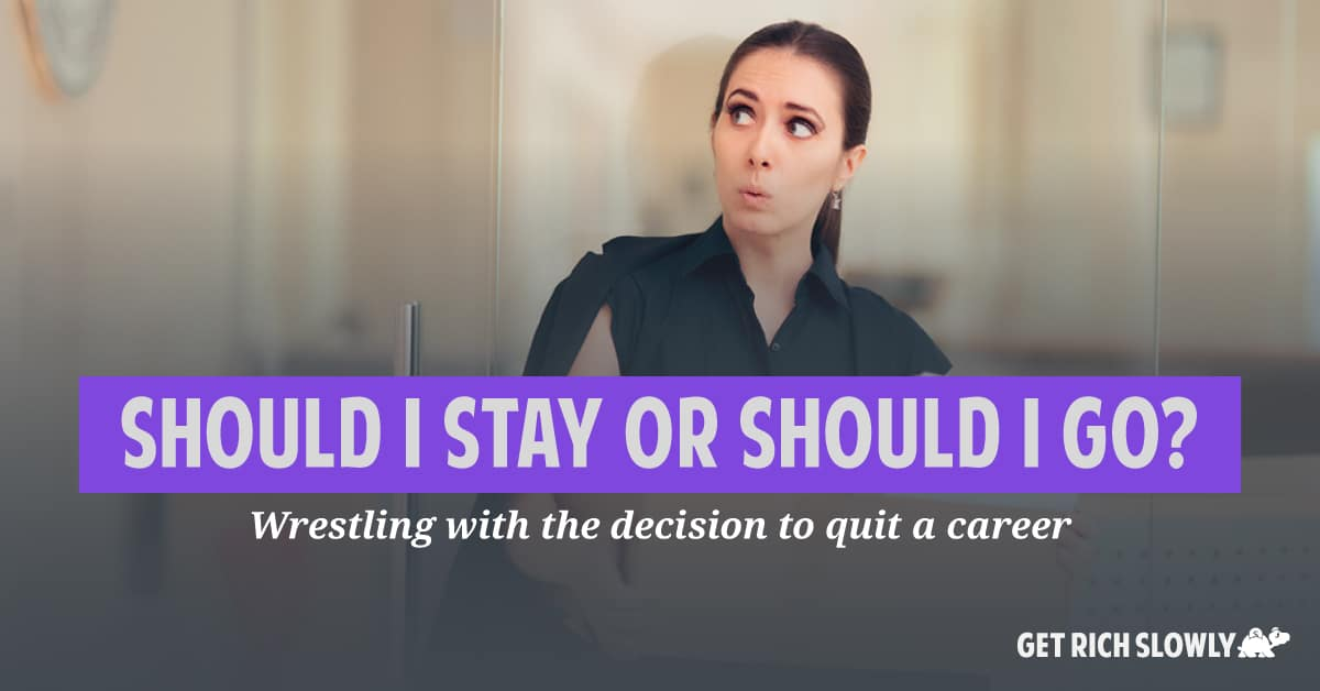 Should I stay or should I go? Wrestling with the decision to quit a career